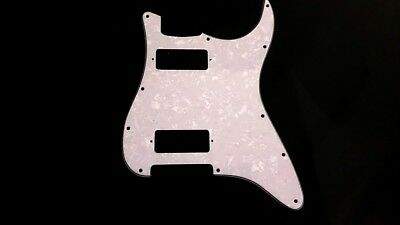 White Pearl Mini Humbucker 3PLY Strat Pickguard USA &MIM for Fender ® NO CONTROL