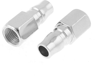 2 Pcs Silver Tone 12mm Female Thread To 11mm OD Quick Coupler PF-20
