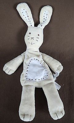 Pottery Barn Kids PBK Bunny Rabbit lovey security Plush doll with pouch pocket