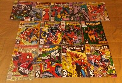 Spider-Man Todd McFarlane near-complete run set lot 1-3 8 10-12 14 16 1990 1991