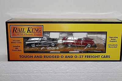 MTH #30-76639 Union Pacific Flatcar w/2  '57 Chevy Nomad