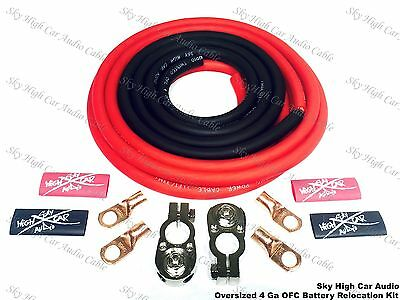 OVERSIZED 4 ga OFC Battery Cable Relocation Kit 12+ 2 - W/ TERMINALS IMCA UMP K1