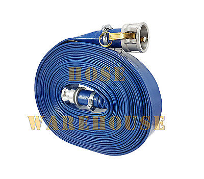 """PVC Lay Flat Hose with Camlocks 2"""" x 20mtrs 80 psi W.P. - FREE FREIGHT"""