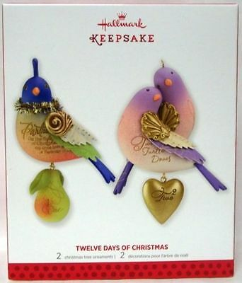 Hallmark 2013 ~ Twelve Days Of Christmas  ~   Set Of 2  #1 & #2  In The Series
