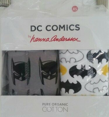 NWT HANNA ANDERSSON ORGANIC TRAINING UNDERS DC COMIC BATMAN XS 80 90 2-3.5 3t