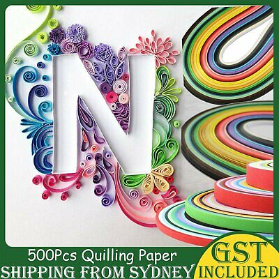 500Pcs 5mmX 35mm Strips Quilling Paper Mixed 50 Colours DIY Craft Kits Scrapbook