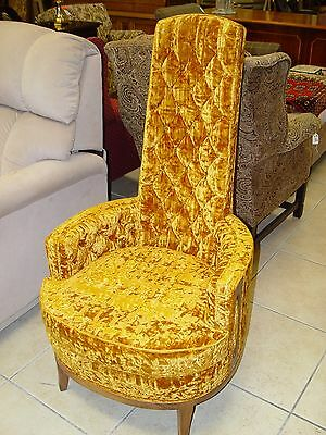 Vintage Gold Velvet Chair