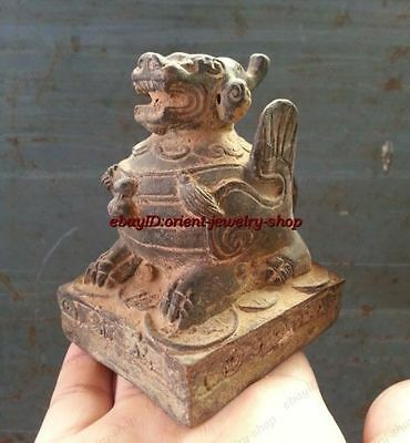 antique excellent China Old Remarkable Private Copper Stamp Bronze statue seal