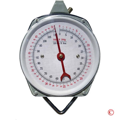 Hanging Spring Kitchen Dial Scale Pit Bull 1 x 110 Lbs Capacity Heavy Duty Steel