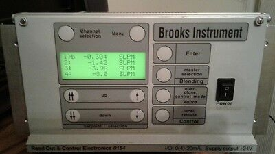 Brooks Instrument 0154 Microprocessor Flow Control & Read Out Unit - 2 Units