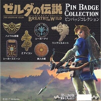 The Legend of Zelda / Breath of The World / Pin Badge Collection Complete Set
