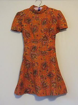 *Authentic Vintage 1960's Hand Made Mini Dress*