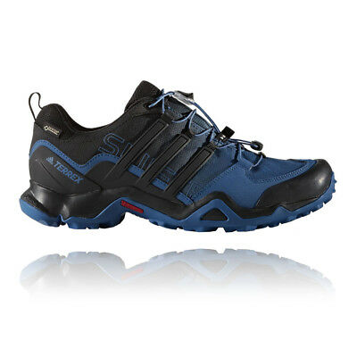 Adidas Terrex Swift R Mens Blue Black Waterproof Walking Trekking Shoes