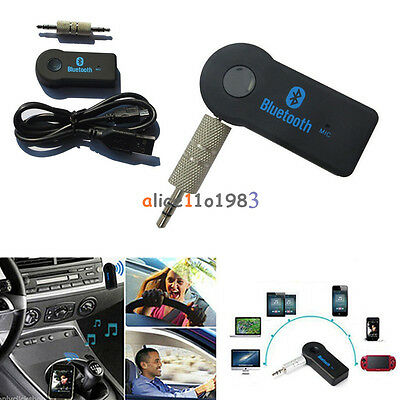 New Bluetooth V3.0 Wireless Stereo Audio Music Receiver 3.5mm Handsfree Car AUX