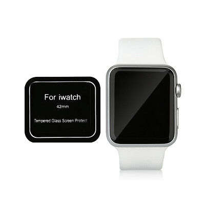 Black Tempered Glass Screen Protector for Apple Watch 42mm