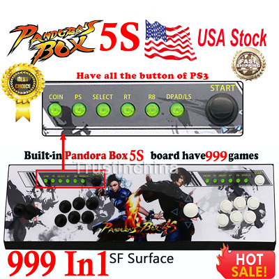 New Pandora Box 5S 999 In1 Arcade Game Console Video Fight Gaming Gamepad SF US
