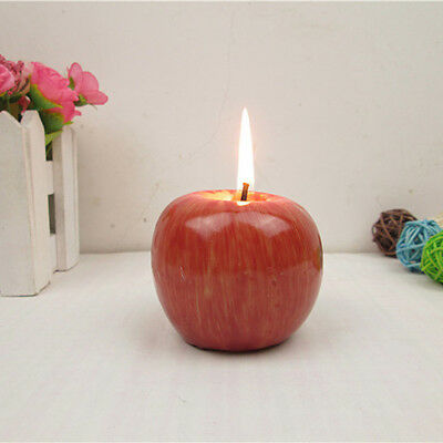 Christmas Red Apple Shape Candles Wedding Birthday Party Home Decoration