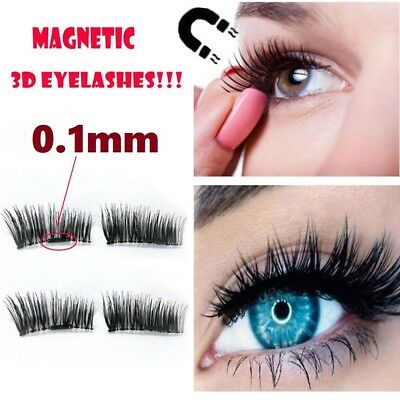 4 PAIRS Ultra-thin 0.1mm Magnetic Eye Lashes Reusable Magnet Eyelashes Extension