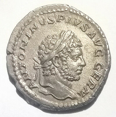 Ancient Roman Empire Silver Coin Caracalla 196AD-217AD Jupiter Nice Grade