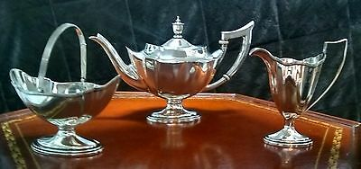 "GORHAM ""Plymouth"" STERLING Tea Set C. 1919 ,1920,1928."