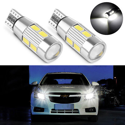 2x Auto Car weiß  T10 W5W SMD Canbus 10-LED Lampen Standlicht Beleuchtung EG