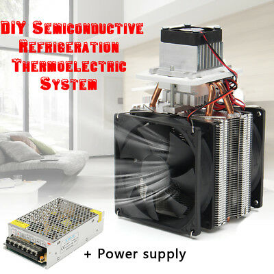 12V Semiconductor Air Refrigeration Thermoelectric Peltier Cooler + Power Supply