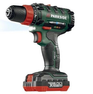 Parkside Pabs 16 A2 Cordless Drill 16V 2Ah 400&1300Rpm Worldwide 🚚🇬🇧