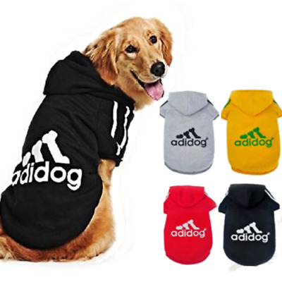 Adidog Hoodie Cute Pet Warm Sweater Coat Costume Apparel PUPPY and SMALL DOGS UK