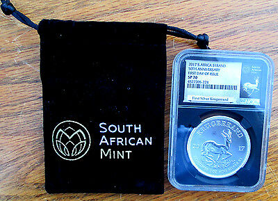2017 Silver Krugerrand..SP70..FIRST DAY OF ISSUE..FDOI..POUCH & COA!