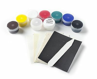 Leather Vinyl Fabric and Carpet Dye DIY Repair Kit rips tears cigarette burns