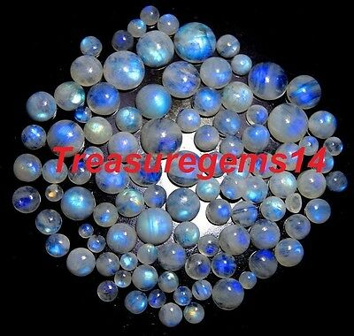 152 Ct Wholesale Lot Natural Blue Moonstone Calibrated Round Cabochon Gemstones