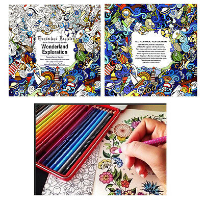 English Adult Graffiti Gifts Books Wonderland Exploration Coloring Book New