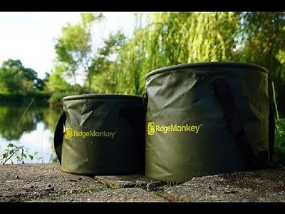 New RidgeMonkey Ridge Monkey V2 Collapsible Water Bucket 10Ltr & 15Ltr Fishing