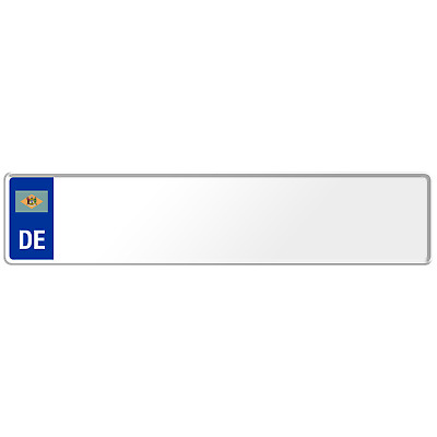 Delaware US USA Euro European License Plate Number Plate Embossed Custom Alu