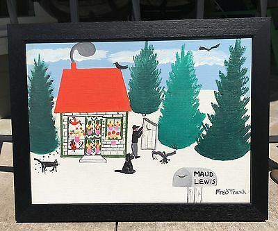 Fred Trask Oil Painting of Maud Lewis House