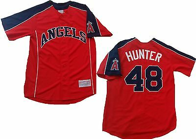 MLB Baseball Trikot Jersey Los Angeles L.A.  Anaheim Angels Torii Hunter 48 rot