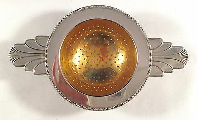 WMF Silver Plated Tea Strainer gilded bowl ART DECO