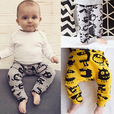 UK Stock Baby Infant Monster Boys Girls Trousers Leggings Pants Tights 0-24M