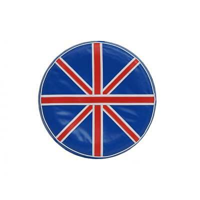 "VESPA/LAMBRETTA 10"" Spare Wheel Cover Union Jack Red/White/Blue"