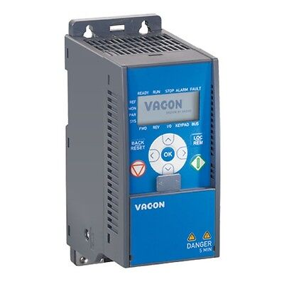 VACON 020-3L-0005-4, 1.5KW 4.3Amps Variable Speed Drive, 3 Phase IP20 New