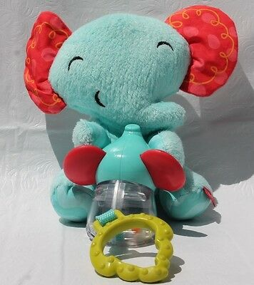 Fisher-Price Wigglin' Elephant Mouse Vibrating Teether Rattle Crinkle Toy Plush
