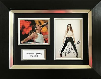 Mel C Hand Signed Autograph Framed Photo Display Spice Girls.