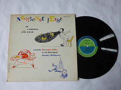 Nonsense Verse Of Lewis Carroll And Edward Lear ~ Rare 1957 Uk Poetry Vinyl Lp