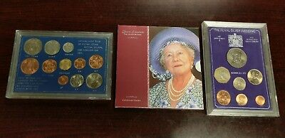 3 Piece Lot of Great Britain Royal Mint Collector Coin Sets - Free Shipping!