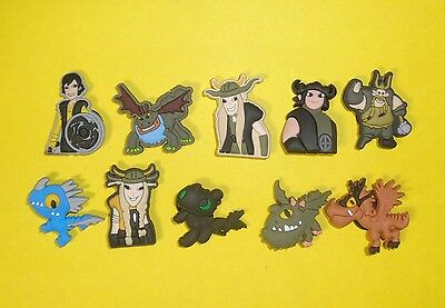 How to Train Your Dragon Shoe Charms Kids Set for fits Jibbitz Clogs Crocs