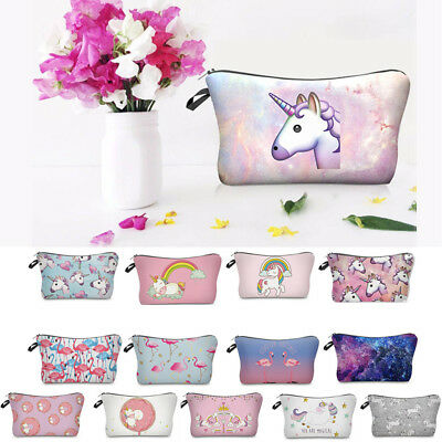 UNICORN MAKE UP BAG / GIFT Pencil Case Emoji Cosmetic Travel Girls Women Handbag