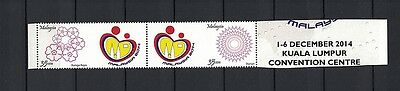Malaysia 2015 strip of 2 stamps ** / mnh Personalisiert