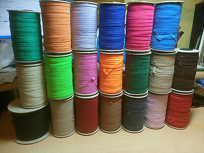 2-meters - Flat, Elastic,Width - 7mm(Approx) - (33 - Colours)