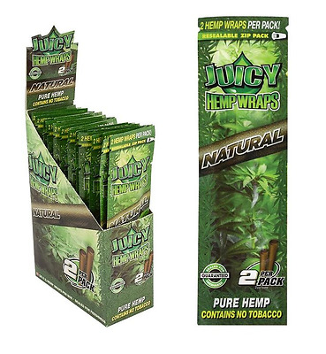 10x Packs ( Juicy Jay's Jay Natural Hemp Wraps ) 2 Wraps Pack Sealed