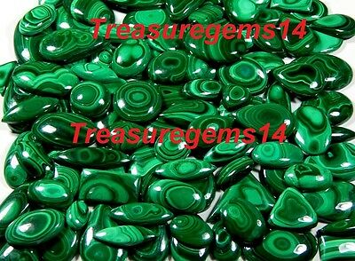 250Crt WHOLESALE LOT NATURAL ANTIQUE GREEN MALACHITE CABOCHON UNTREATED GEMSTONE